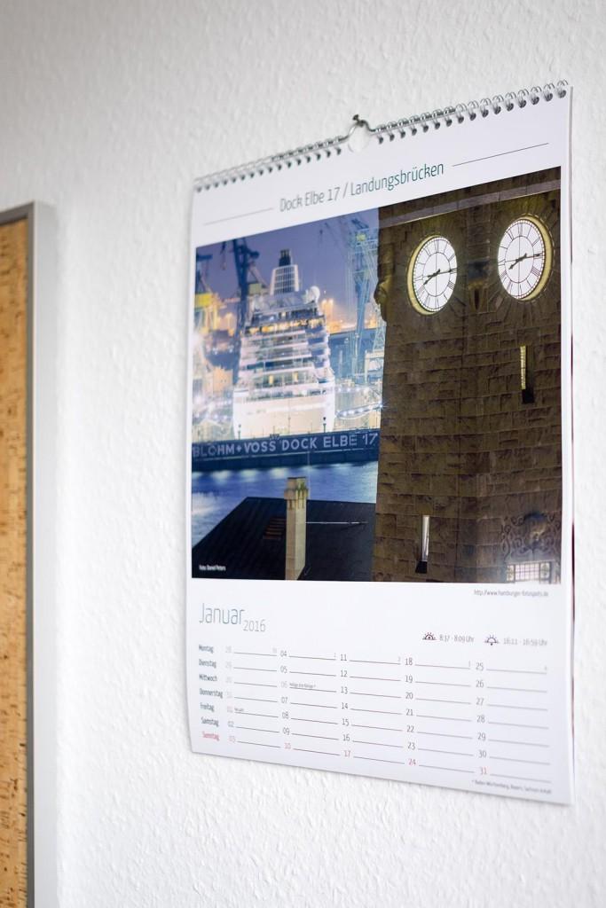 Kalender 2016 im Januar