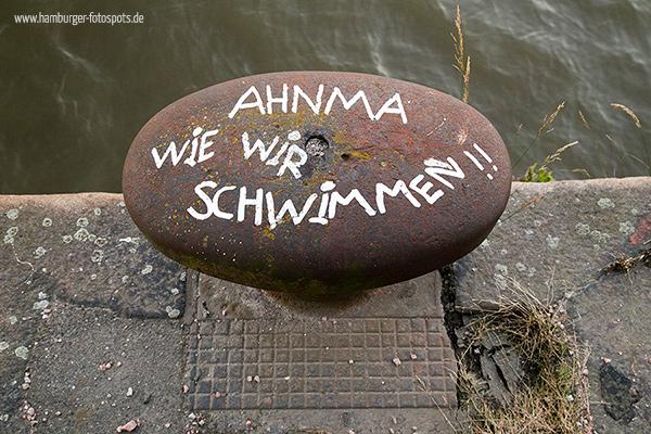 """""""Ahnma wie wir schwimmen"""" im Fischereihafen Hamburg"""