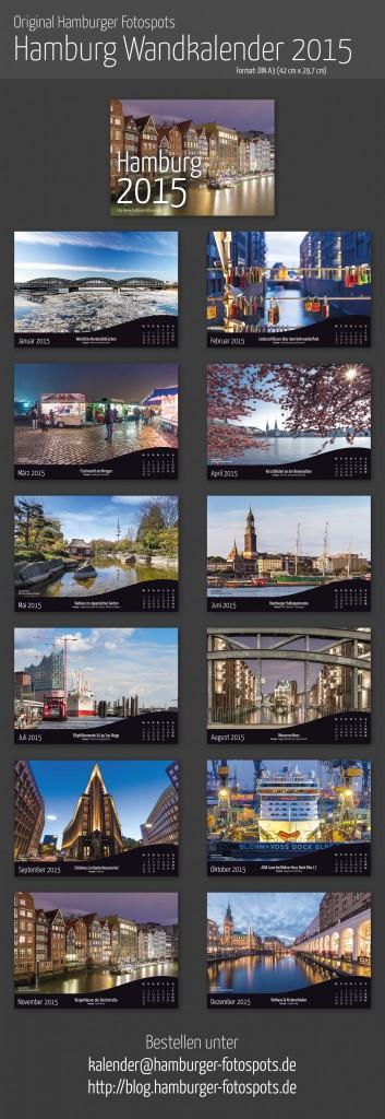 Hamburg A3 Wandkalender