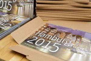 Hamburg Wandkalender 2015 Versandverpackung